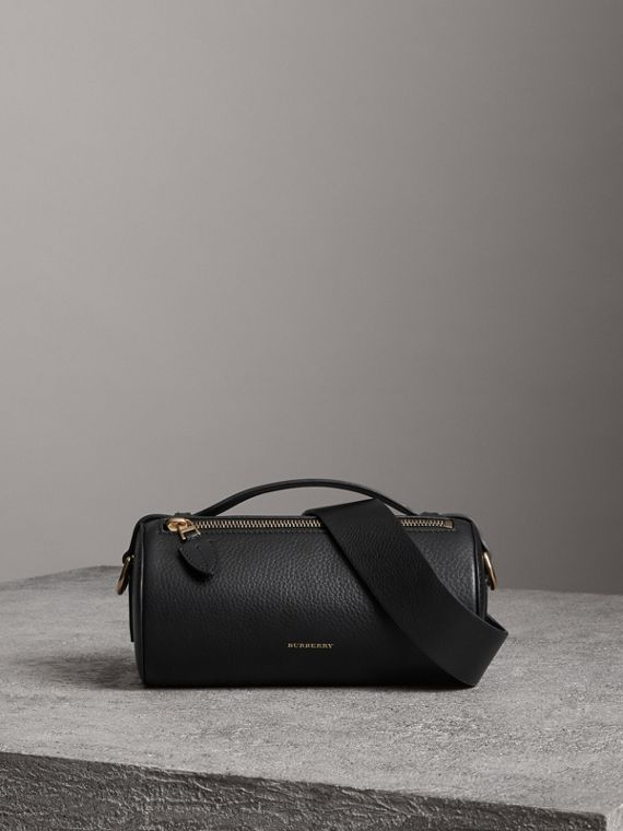 Sac The Barrel en cuir (Noir)