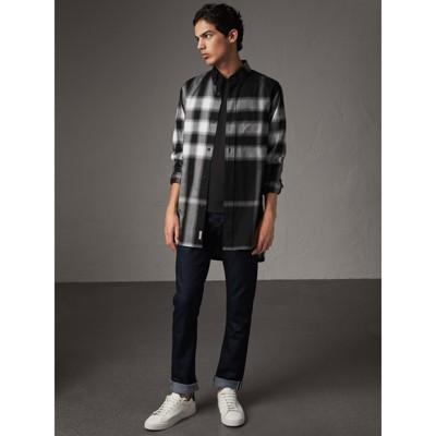 Burberry - T-shirt en jersey de coton - 5