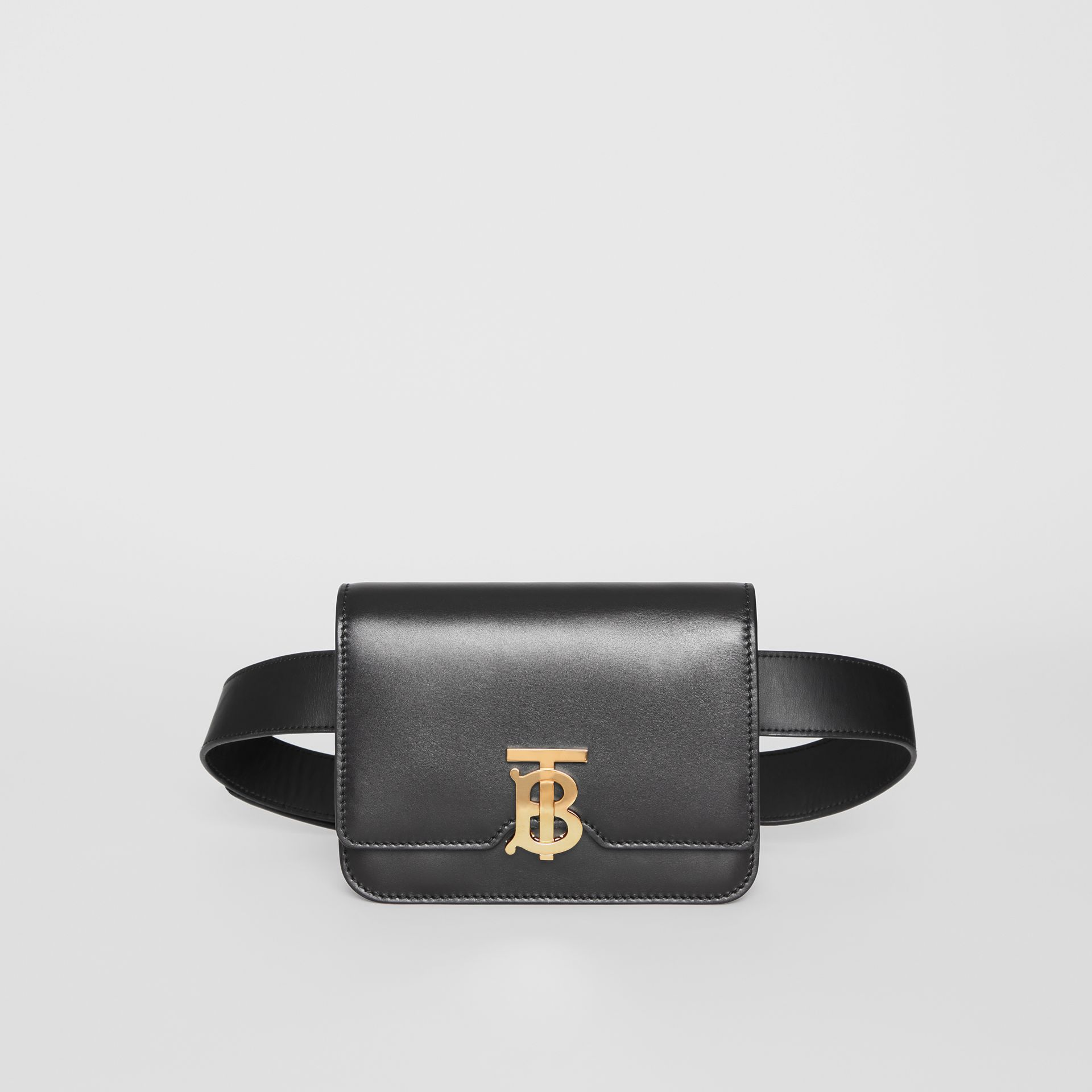 Belted Leather TB Bag in Black - Women | Burberry - gallery image 0