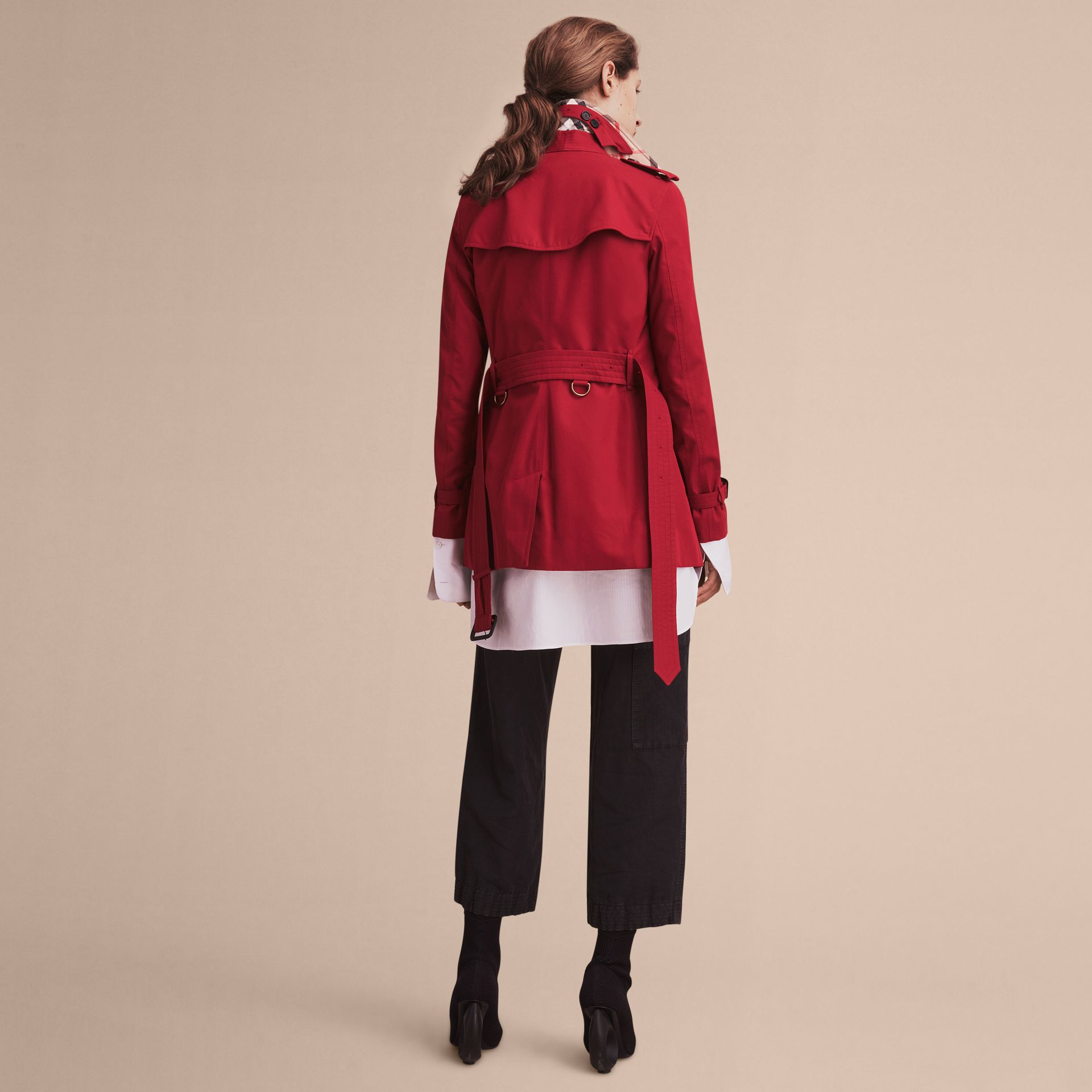 Parade red The Kensington - Trench coat Heritage curto Parade Red - galeria de imagens 4
