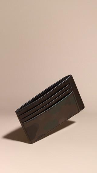 Porte-cartes à motif London check et imprimé camouflage