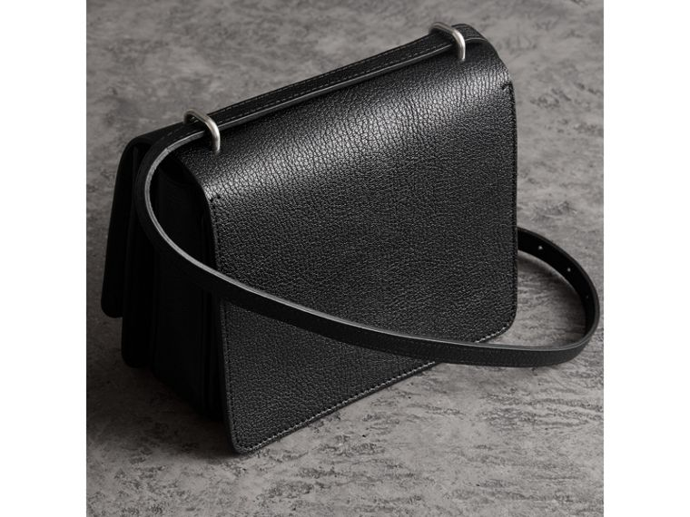 Borsa The D-ring piccola in pelle (Nero) - Donna | Burberry - cell image 4