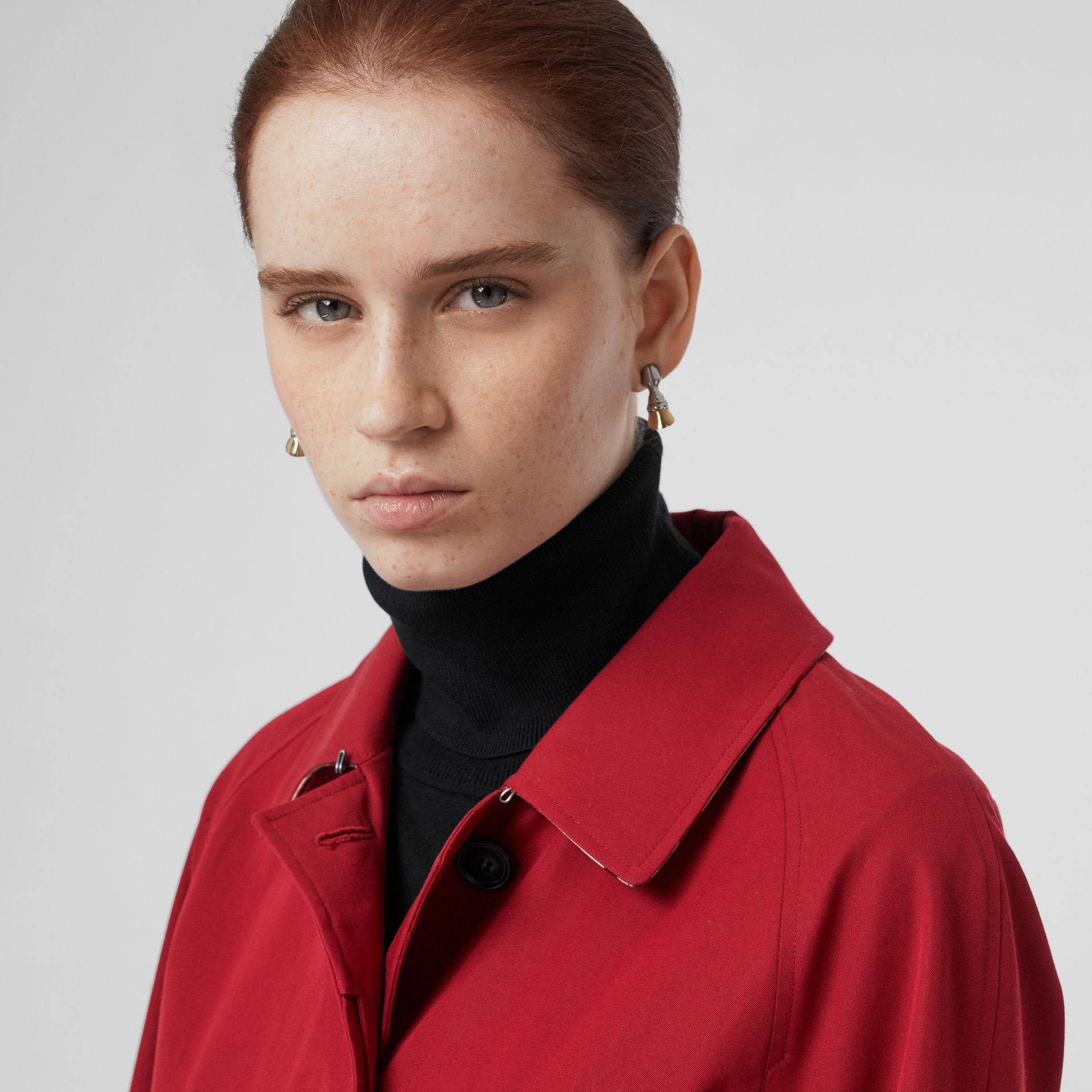 The Camden Car Coat in Parade Red - Women | Burberry - gallery image 1