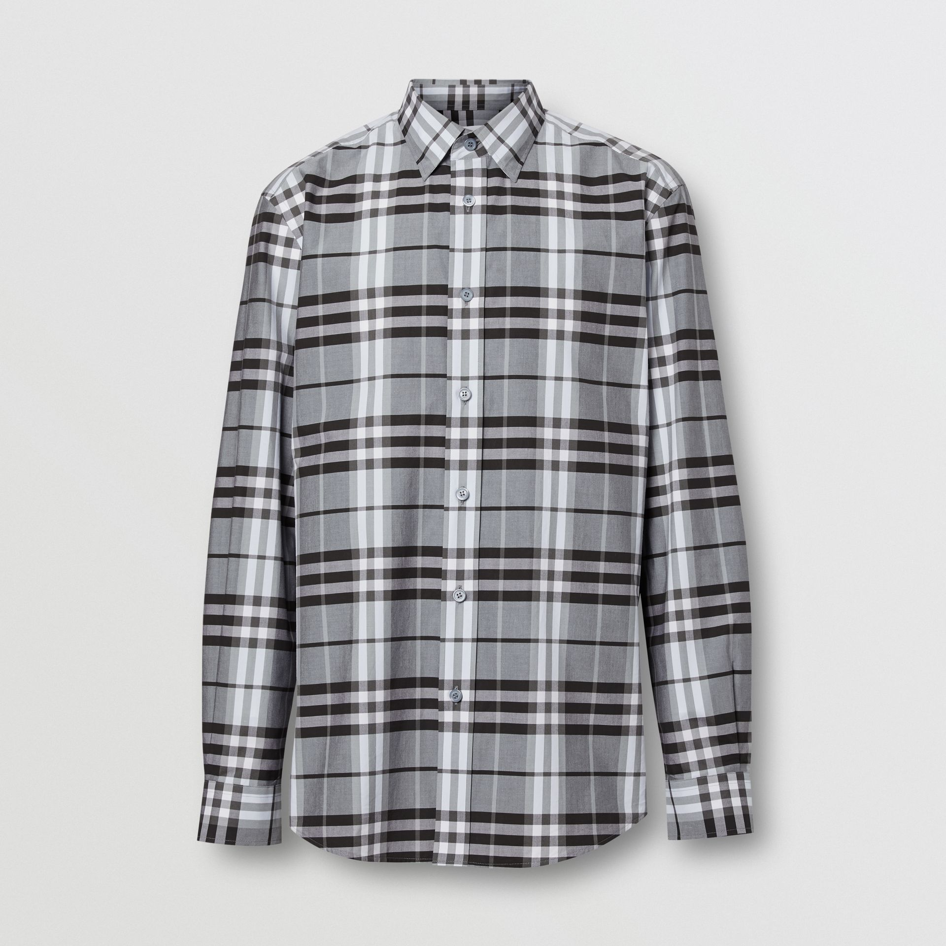 Vintage Check Cotton Poplin Shirt in Sky Blue - Men | Burberry - gallery image 3