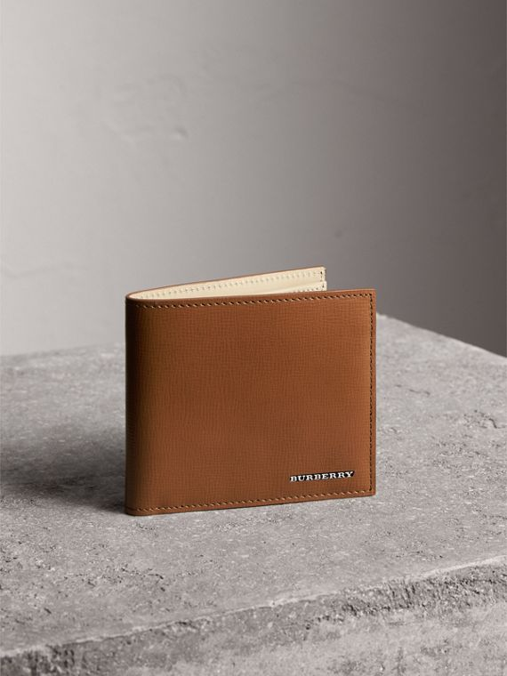 London Leather Folding Coin Wallet | Burberry Singapore