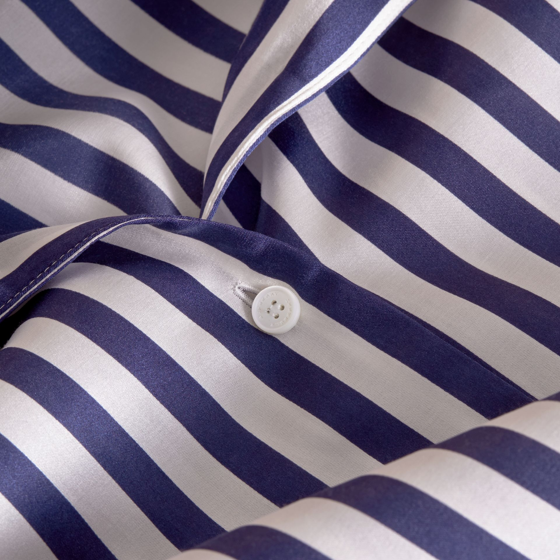 Striped Silk Cotton Shirt Dress - gallery image 2