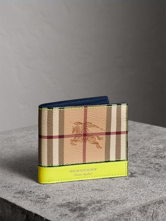Haymarket Check International Bifold Wallet in Bright Yellow