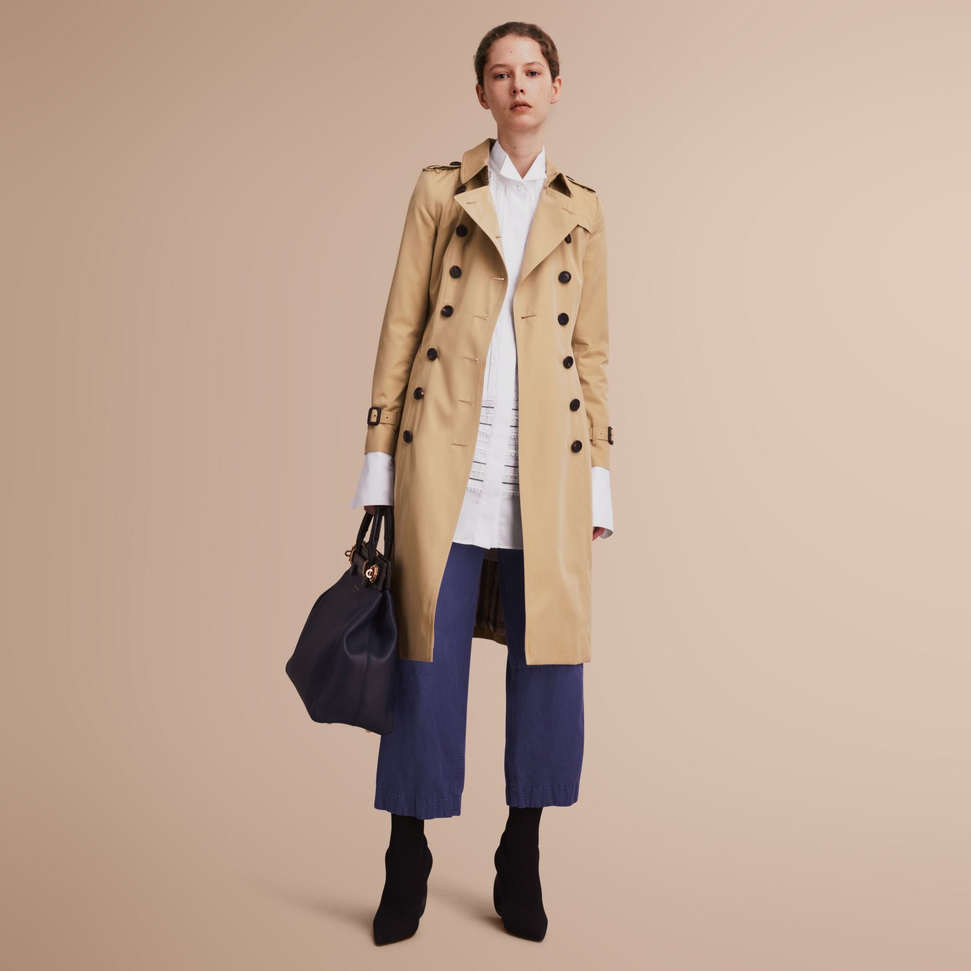 The Chelsea – Extra-long Heritage Trench Coat Honey - gallery image 1