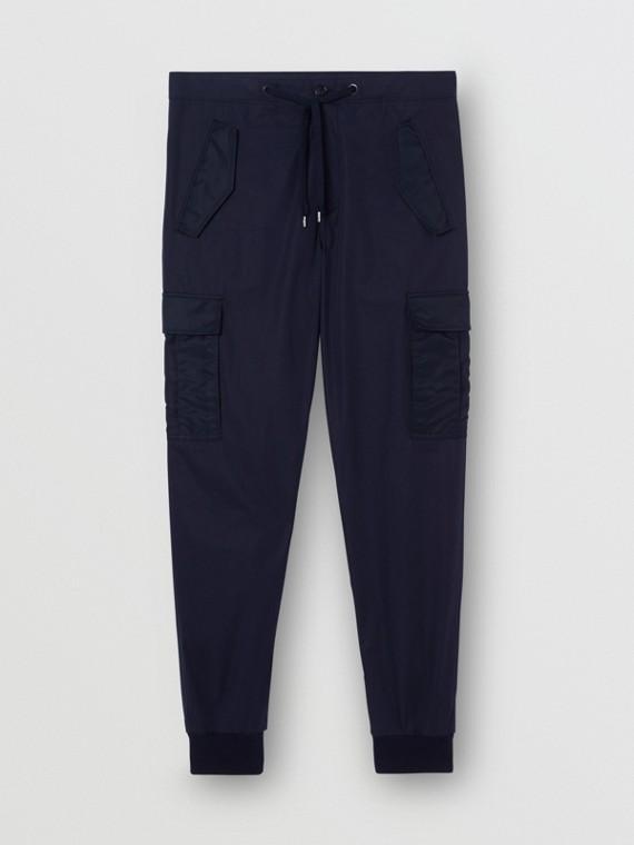 Зауженные брюки-карго (Темно-синий)