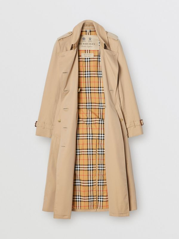 The Long Chelsea Heritage Trench Coat in Honey | Burberry - cell image 3