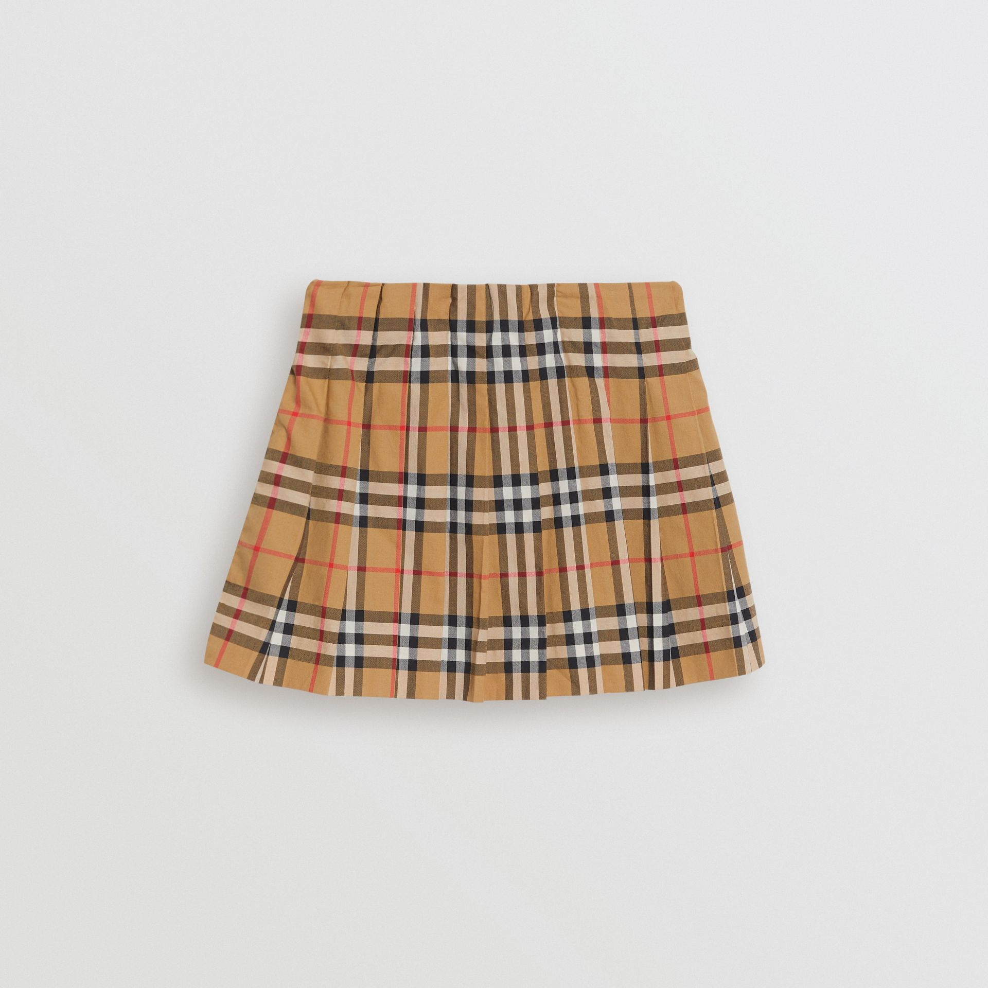 Vintage Check Pleated Skirt in Antique Yellow | Burberry - gallery image 3