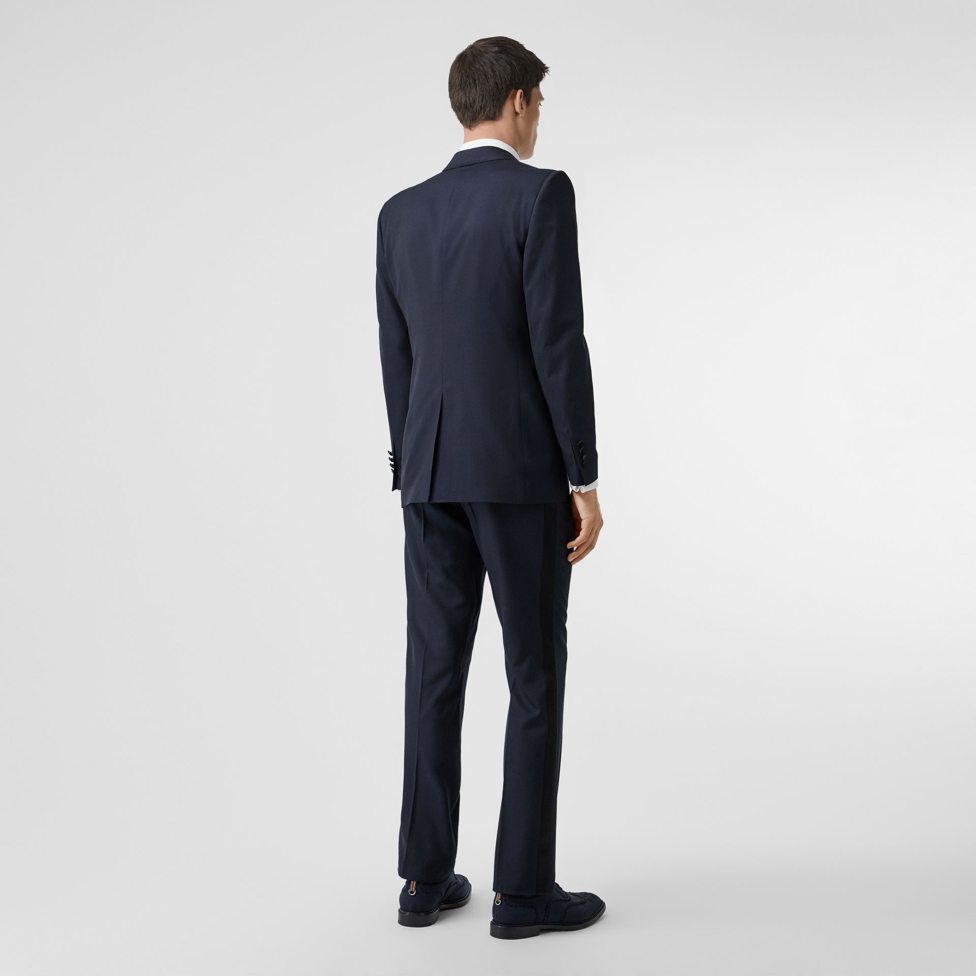 Classic Fit Wool Silk Tuxedo in Navy - Men | Burberry - gallery image 2
