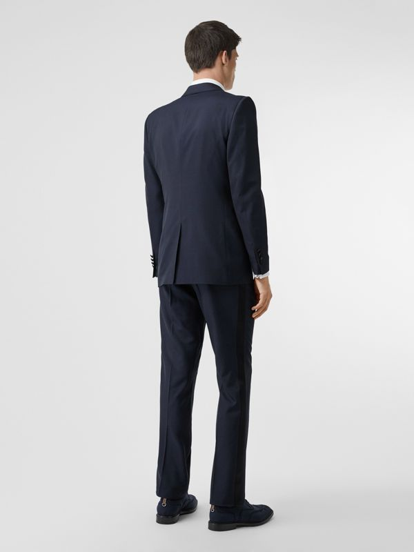 Classic Fit Wool Silk Tuxedo in Navy - Men | Burberry Australia - cell image 2