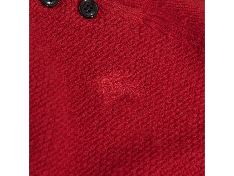 Cashmere Sweater Dress in Parade Red - Girl | Burberry - cell image 1