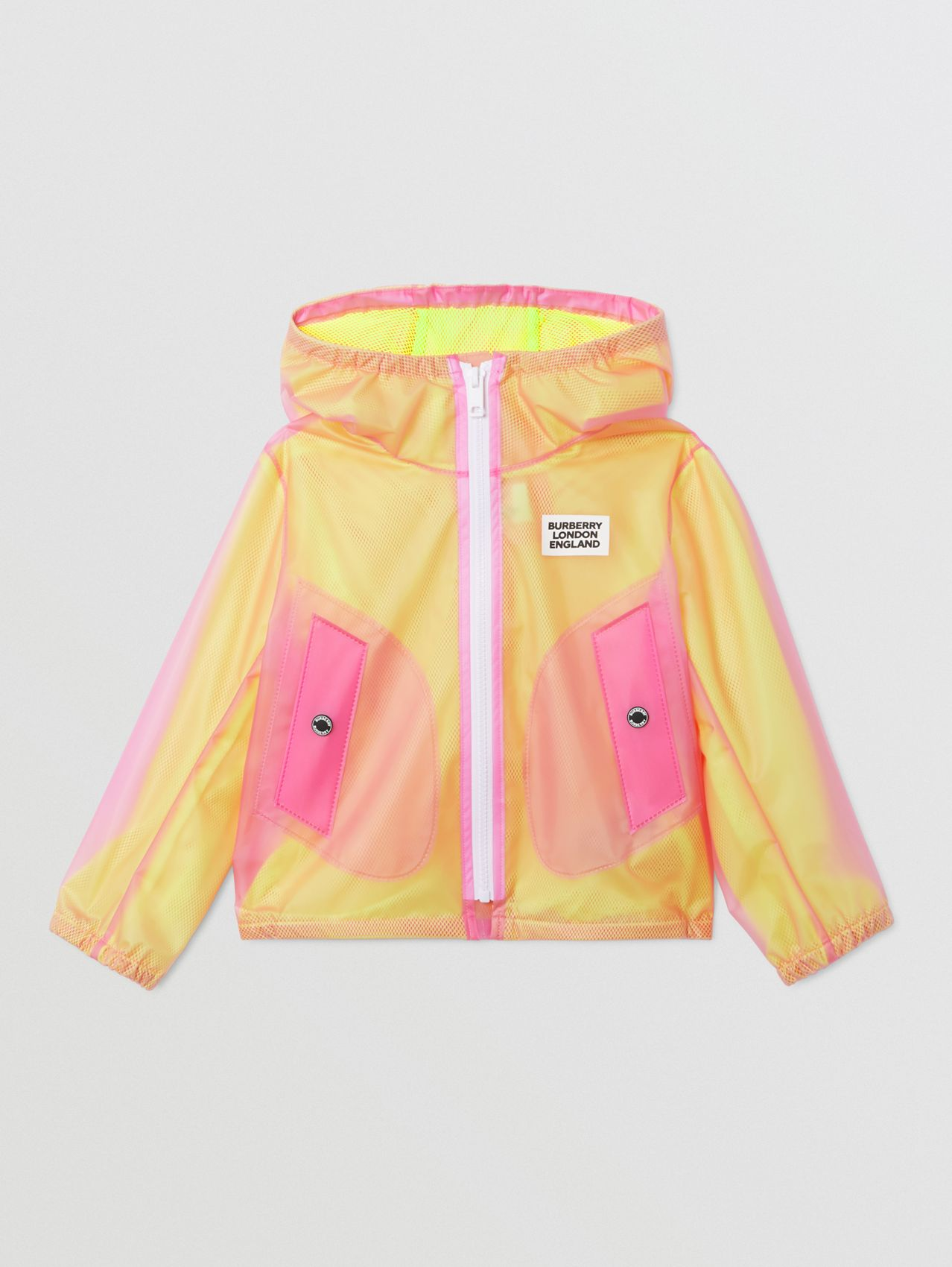 Logo Print Lightweight Hooded Jacket (Raspberry Pink)