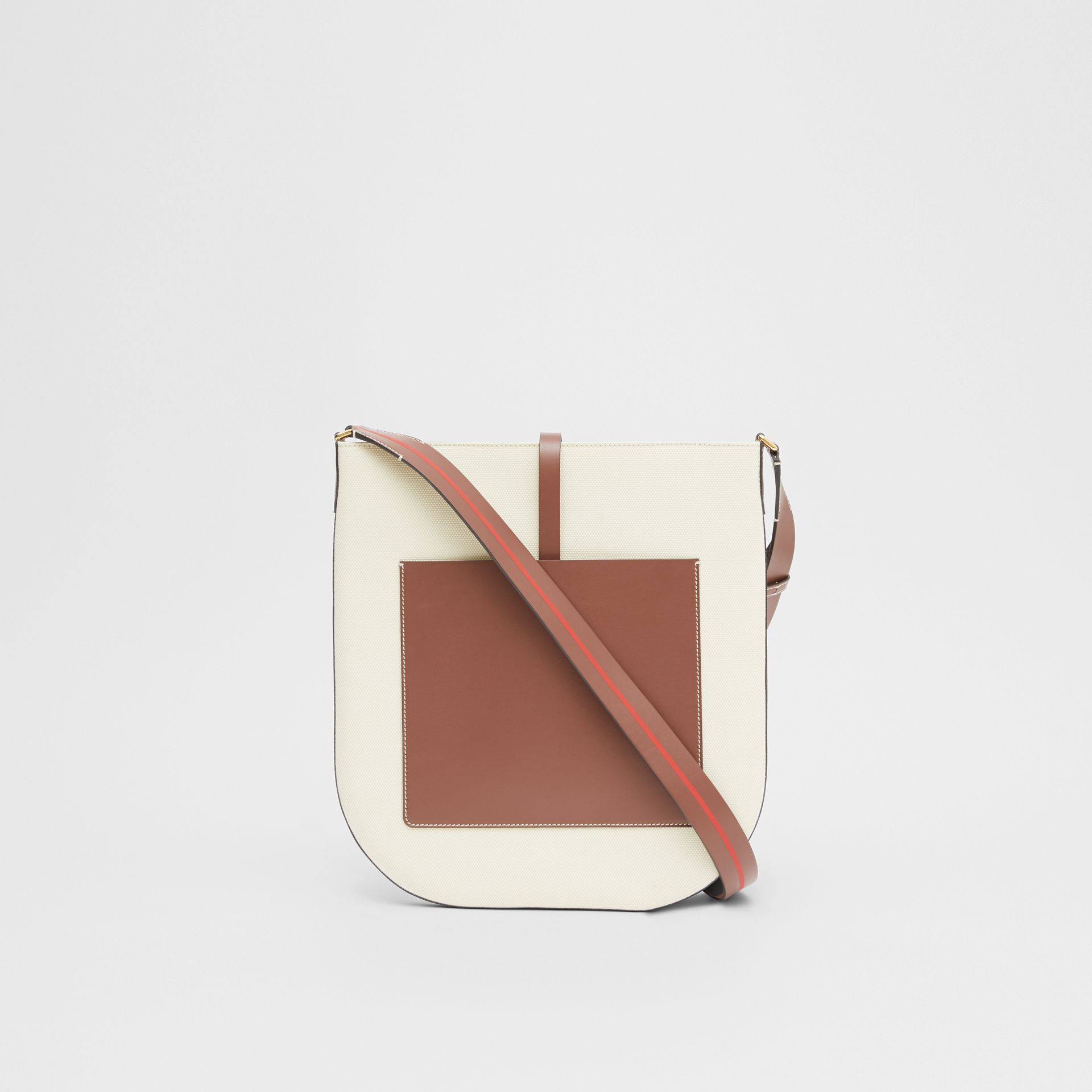 Logo Graphic Cotton Canvas and Leather Anne Bag in Natural/tan - Women | Burberry - gallery image 7