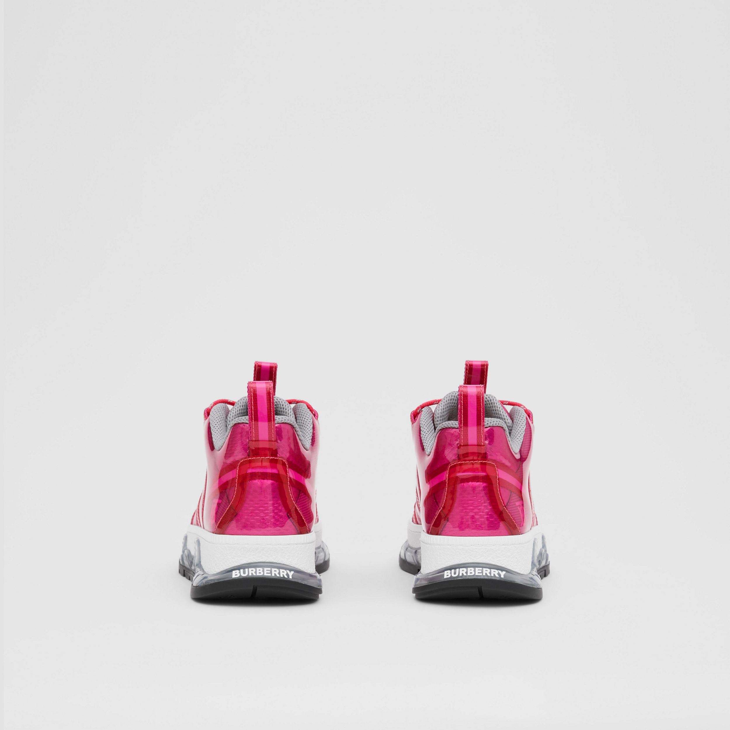 Vinyl and Nylon Union Sneakers in Fuchsia - Women | Burberry - 4