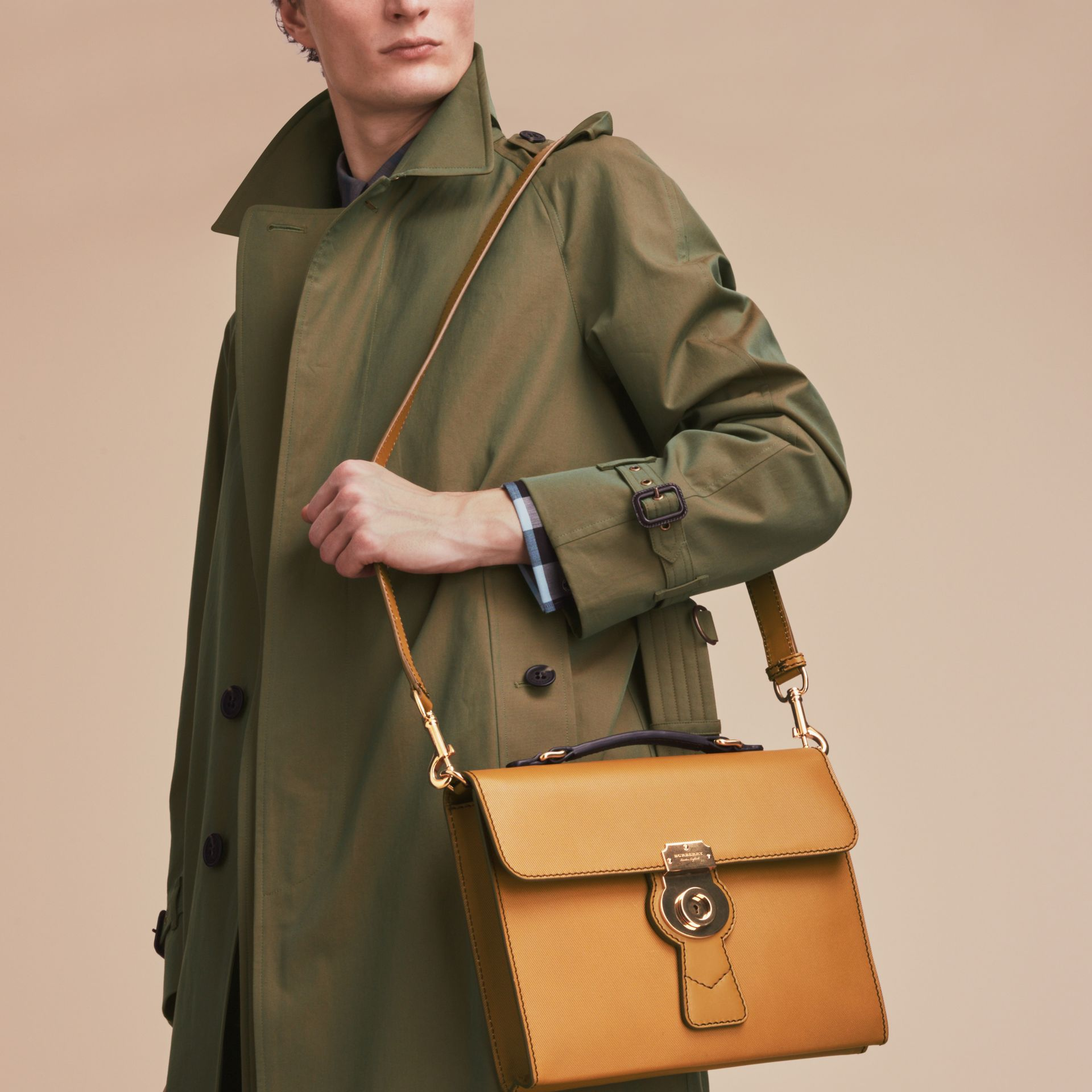 The DK88 Document Case in Ochre Yellow - Men | Burberry - gallery image 7