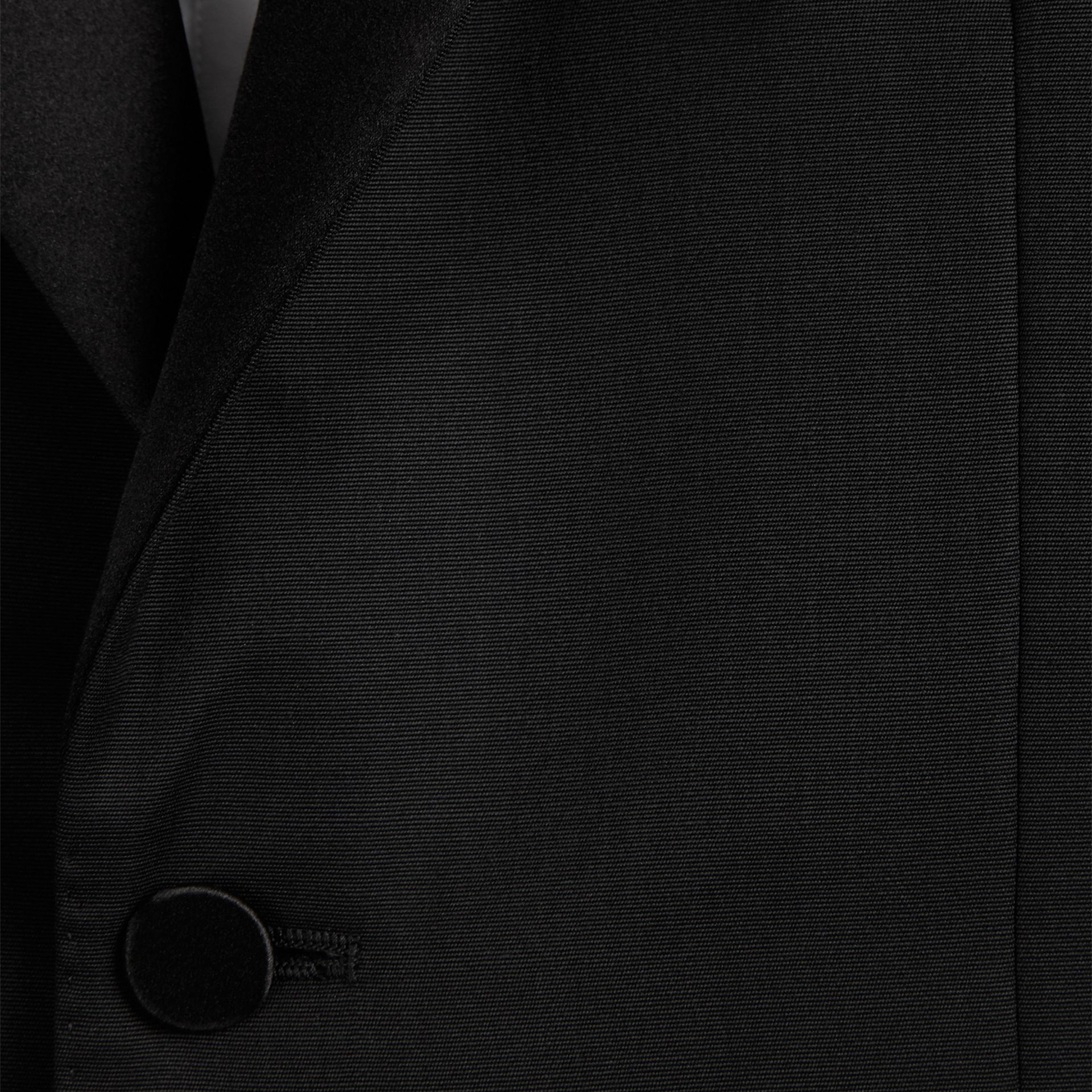 Black Wool Tuxedo Jacket - gallery image 2