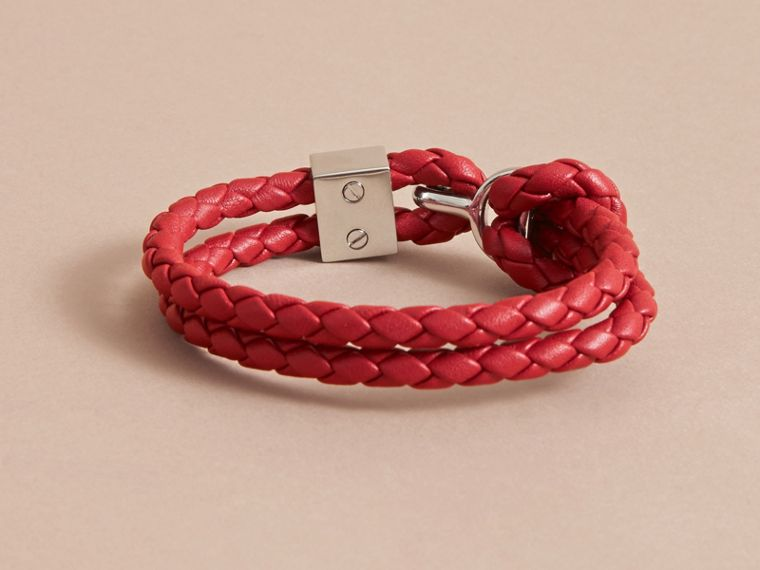 Braided Leather Bracelet Parade Red - cell image 2