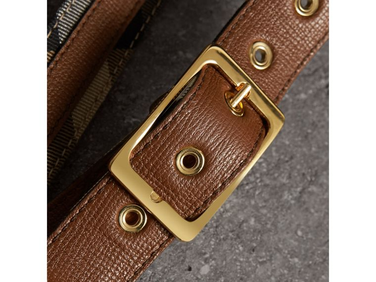 House Check and Grainy Leather Belt in Camel/tan - Women | Burberry Hong Kong - cell image 1