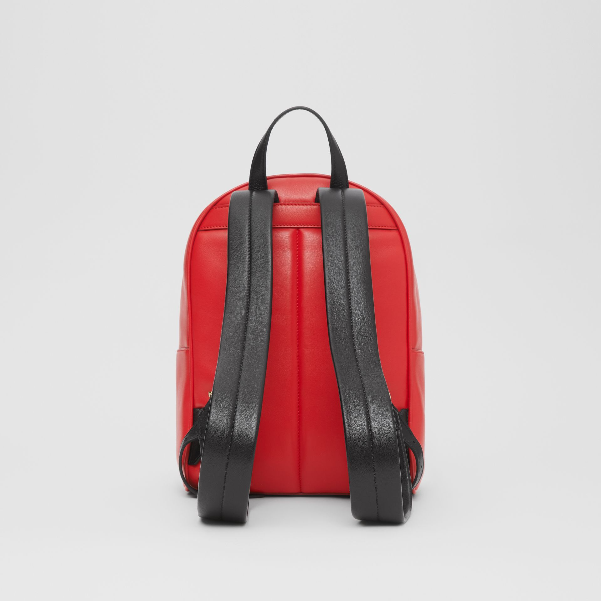Quilted Lambskin Backpack in Bright Red | Burberry - gallery image 9