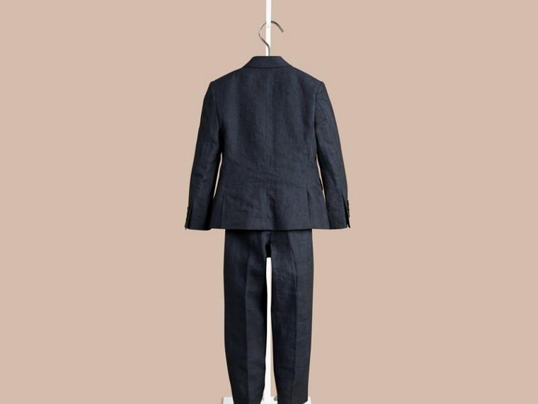 Navy Linen Tuxedo Jacket - cell image 2