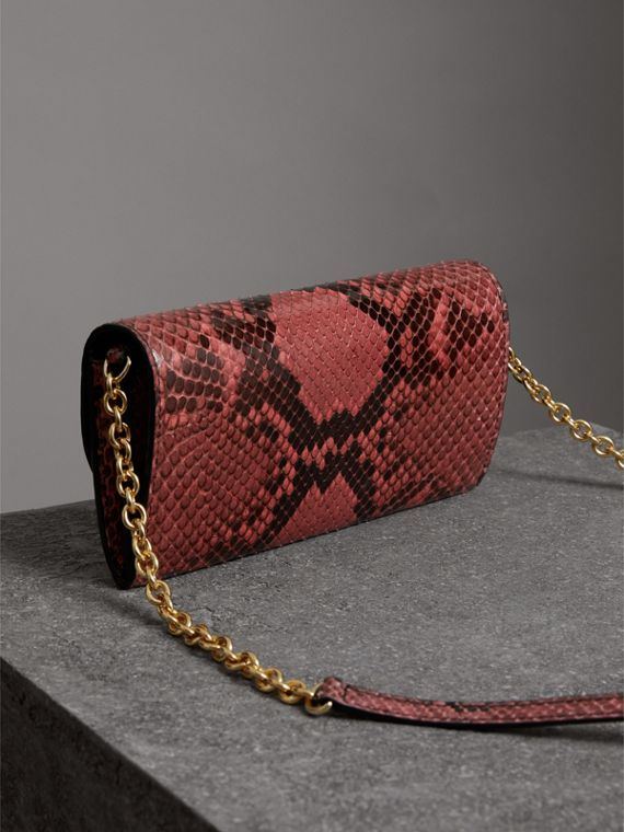 Python Wallet with Chain in Peony - Women | Burberry Hong Kong - cell image 2