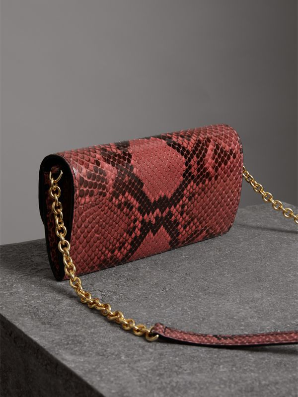 Python Wallet with Chain in Peony - Women | Burberry - cell image 2