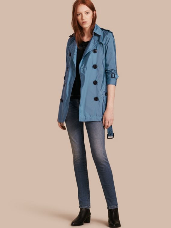 Lightweight Trench Coat Cornflower