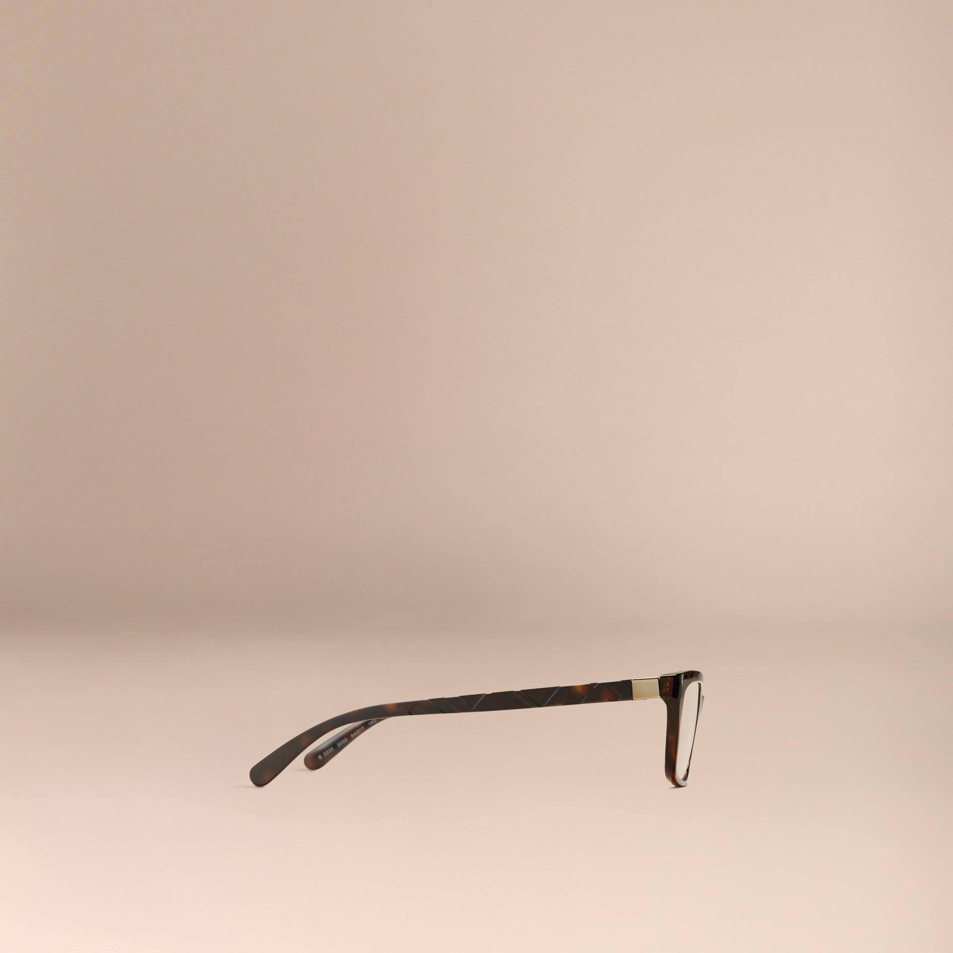 Check Detail Rectangular Optical Frames Tortoiseshell - gallery image 4