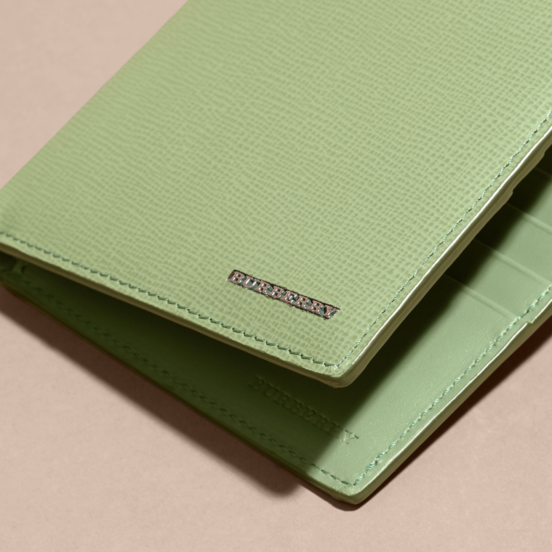 London Leather International Bifold Wallet in Antique Green - gallery image 2