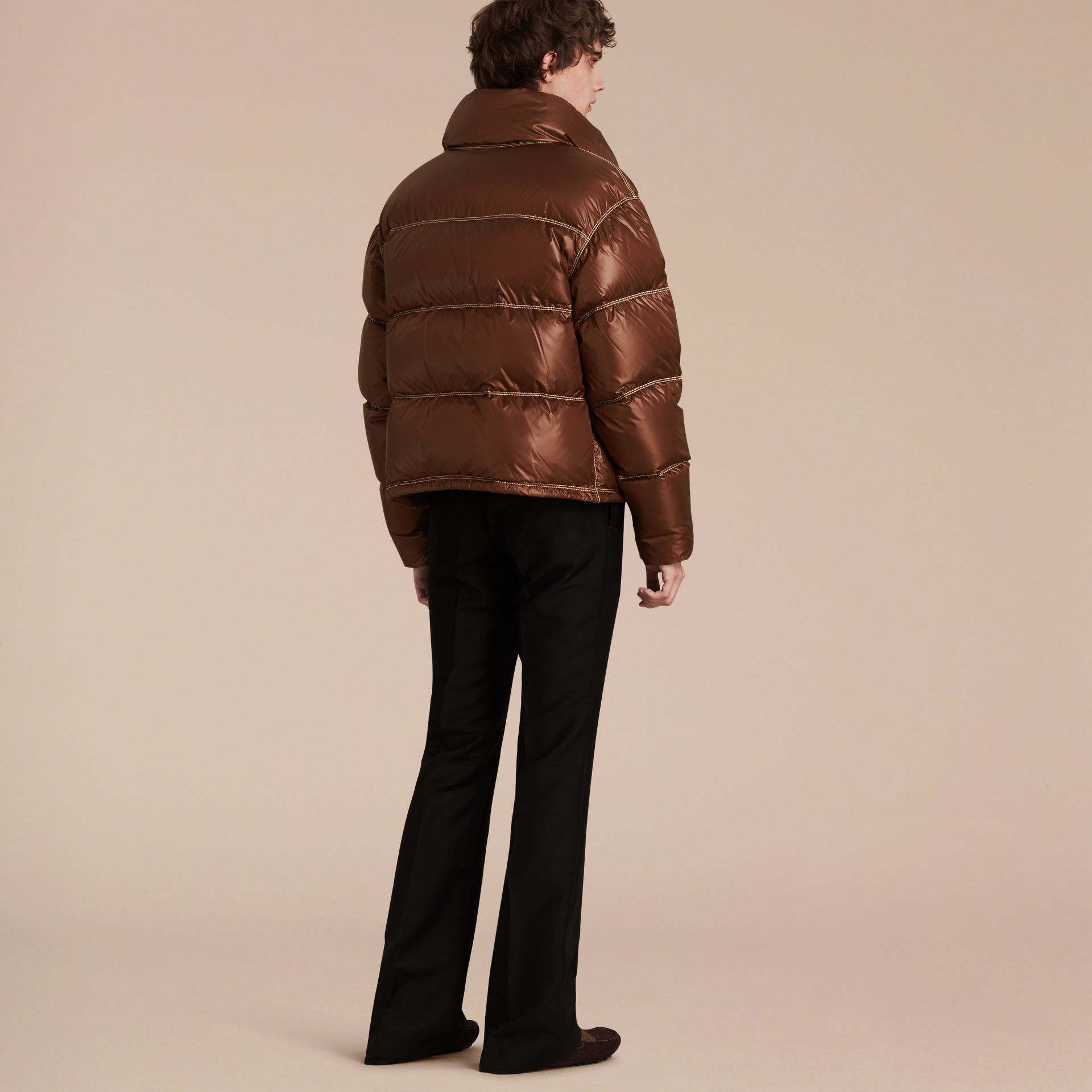 Chestnut brown Down-filled Puffer Jacket - gallery image 3