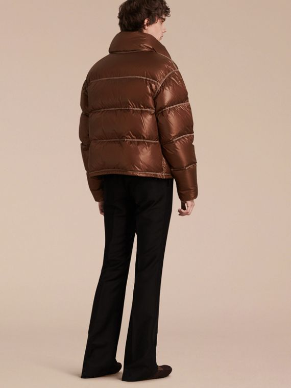 Chestnut brown Down-filled Puffer Jacket - cell image 2
