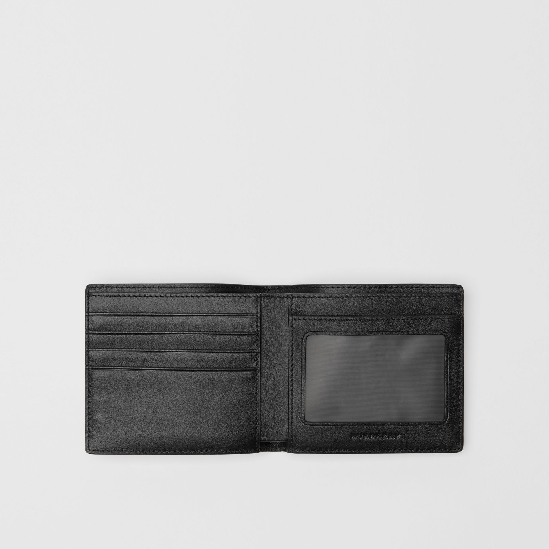 London Check ID Wallet in Charcoal/black - Men | Burberry - gallery image 3