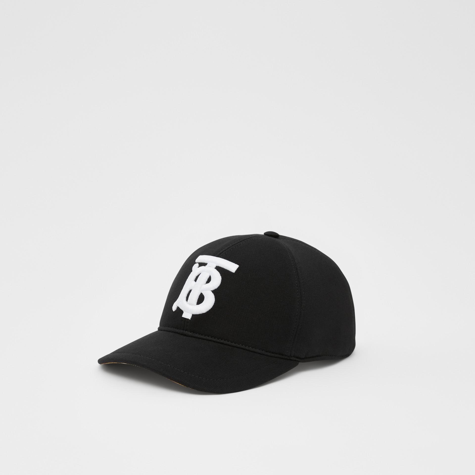 Monogram Motif Baseball Cap in Black | Burberry - gallery image 5