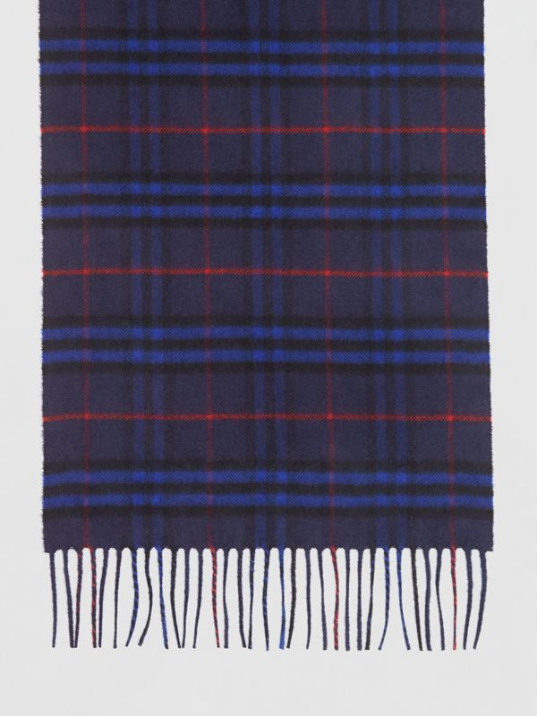 The Classic Vintage Check Cashmere Scarf in Bright Navy | Burberry - cell image 3