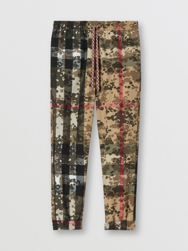 Camouflage Check Nylon Trackpants in Archive Beige | Burberry United Kingdom - cell image 3