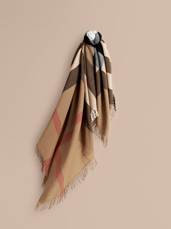 Foulard grande in lana con motivo check (House) | Burberry