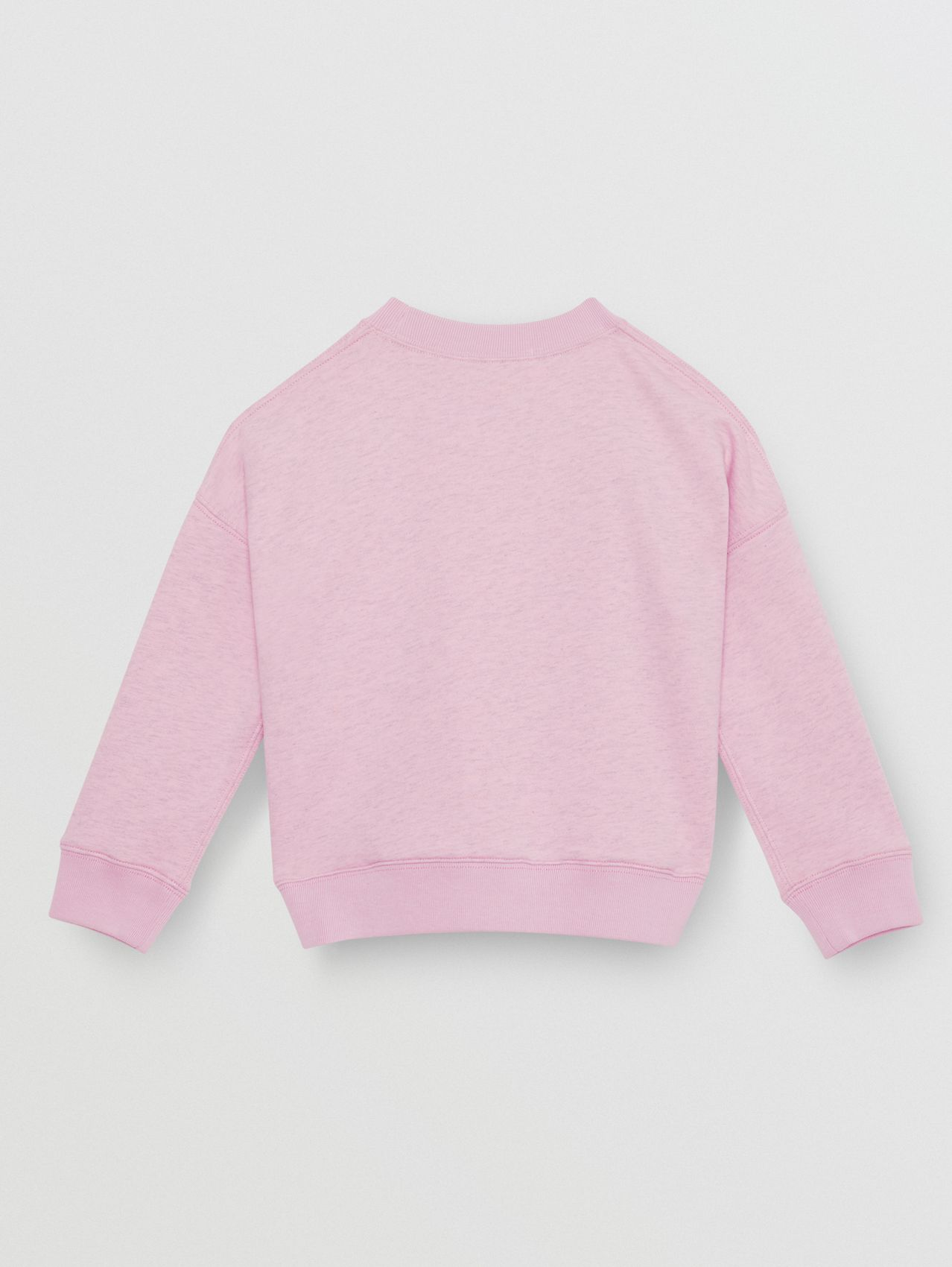 Logo Detail Cotton Sweatshirt (Pale Neon Pink)