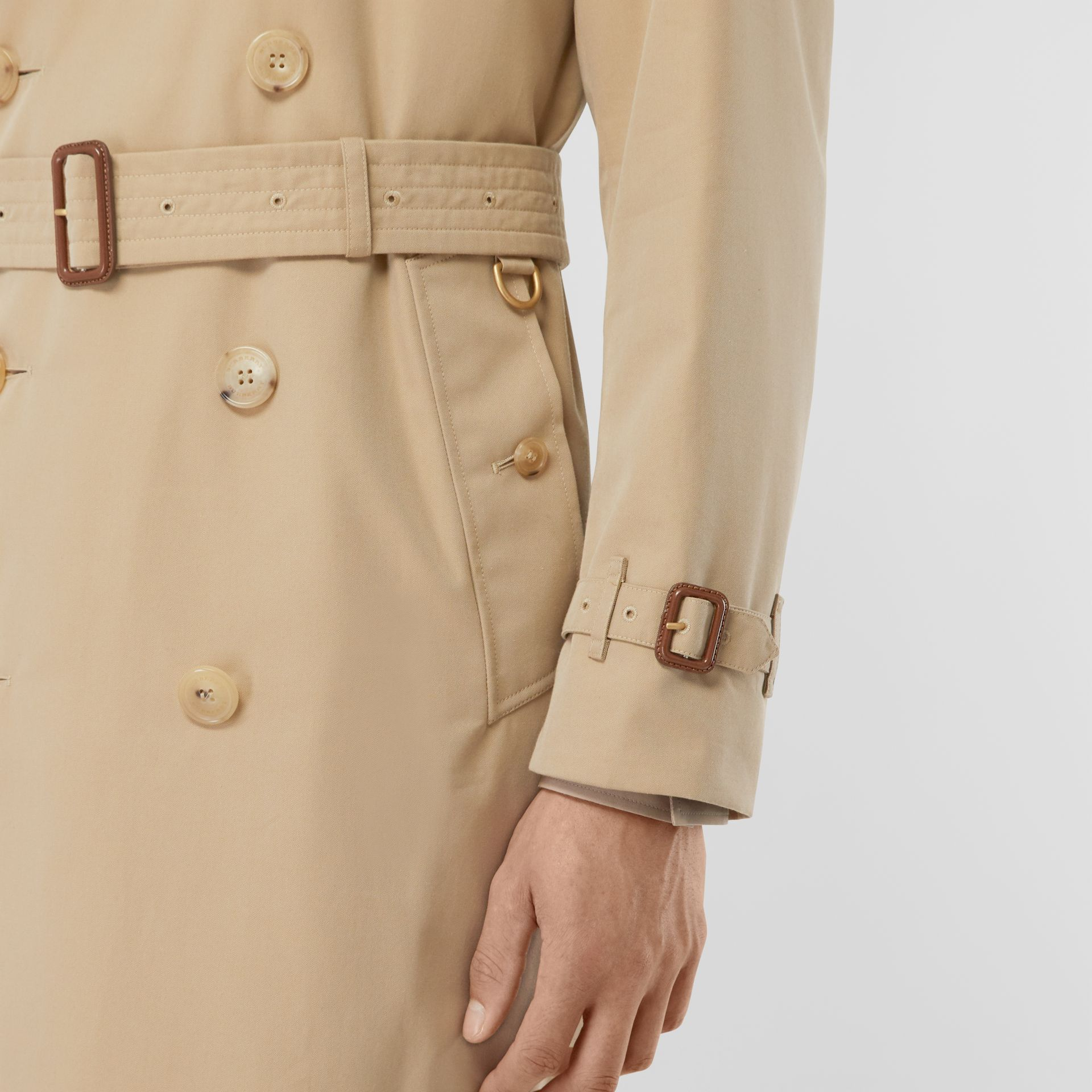 The Mid-length Kensington Heritage Trench Coat in Honey - Men | Burberry - gallery image 4