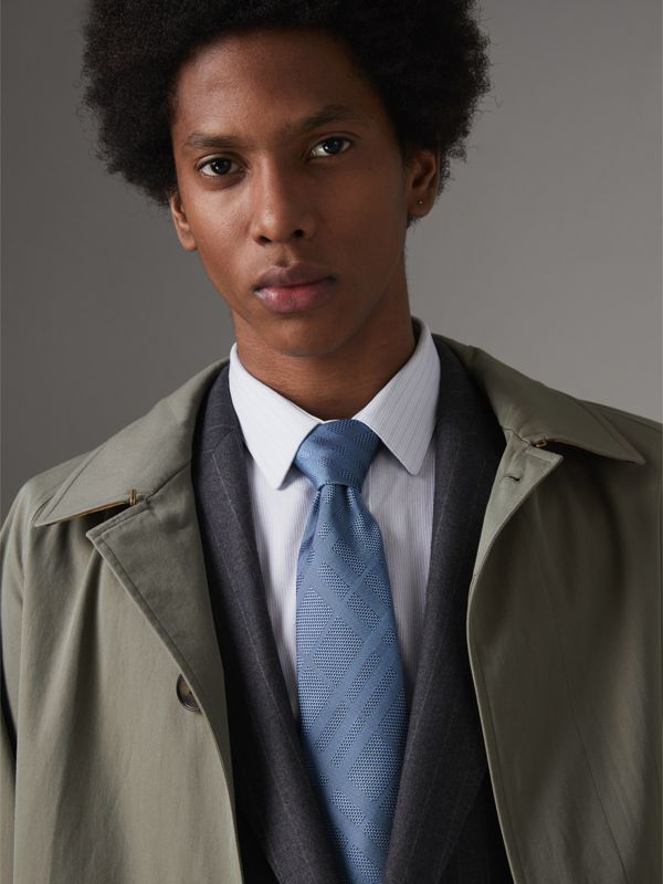 Classic Cut Check Silk Jacquard Tie in Sky Blue - Men   Burberry United States - cell image 2