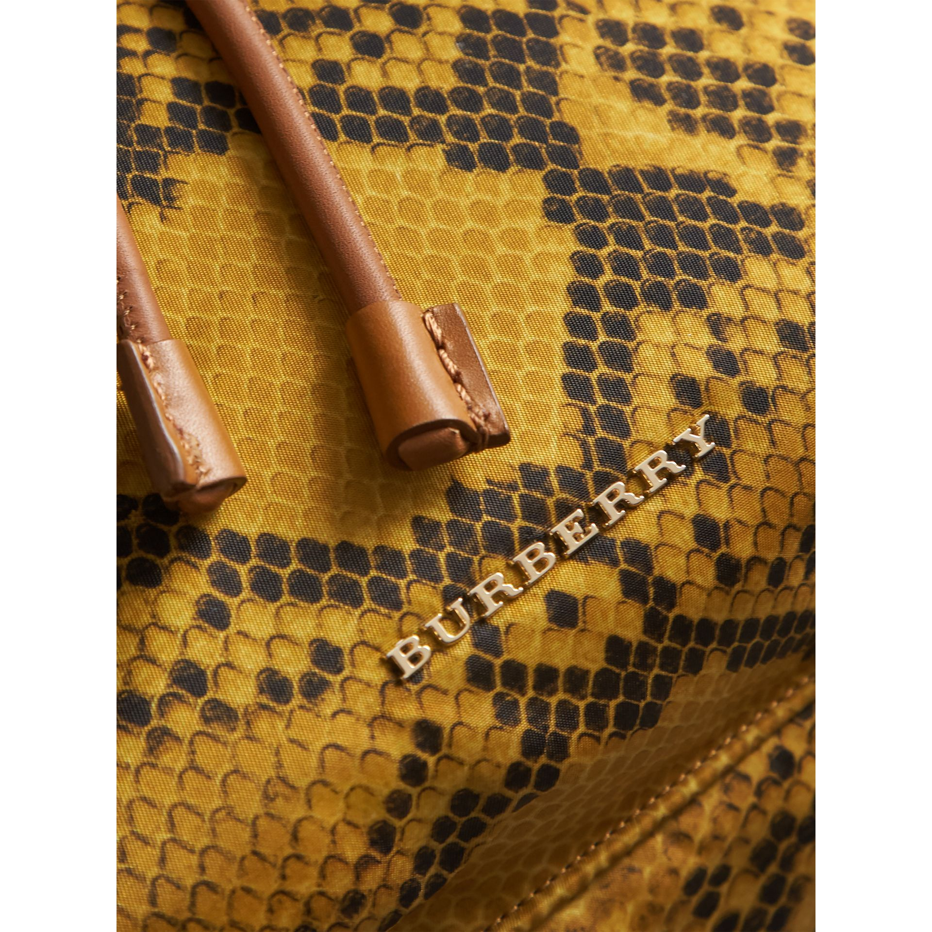 The Large Rucksack in Python Print Nylon and Leather in Yellow - Women | Burberry - gallery image 6