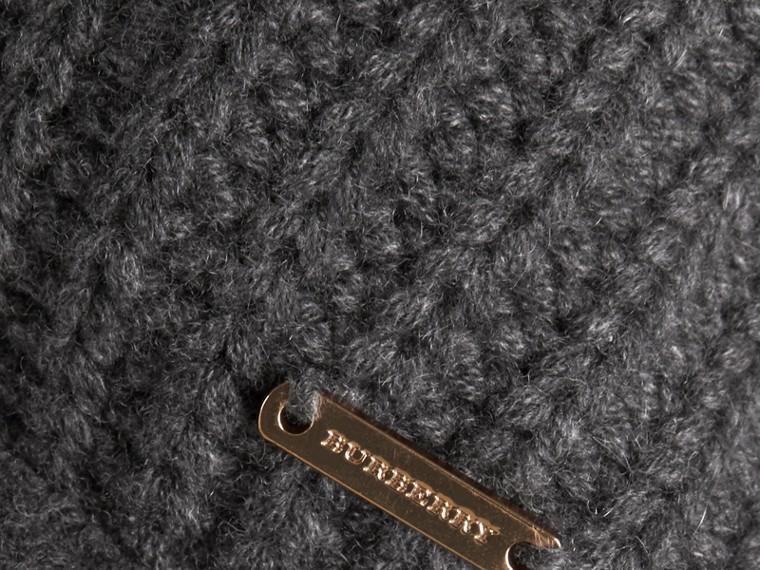 Dark grey melange Knitted Cashmere Cushion Cover Dark Grey Melange - cell image 1