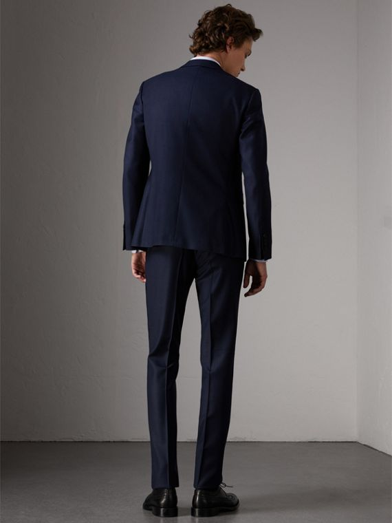 Slim Fit Travel Tailoring Wool Three-piece Suit in Navy - Men | Burberry - cell image 2