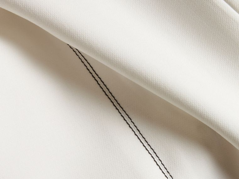 Natural white Topstitch Detail Shift Dress - cell image 1