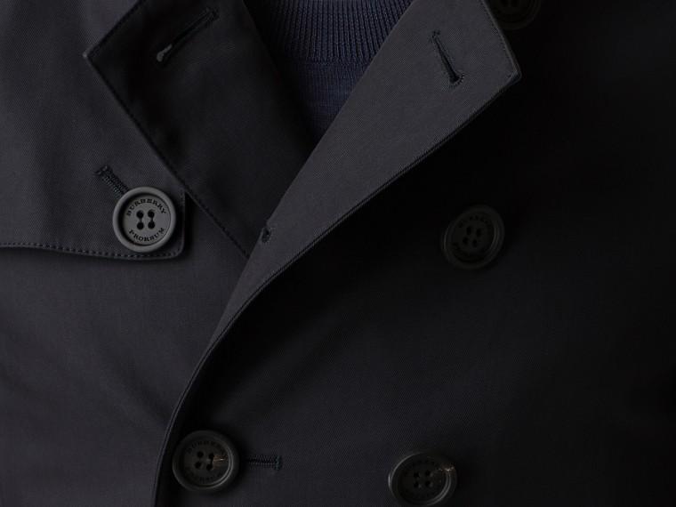 Inchiostro Trench coat corto in gabardine di cotone - cell image 1
