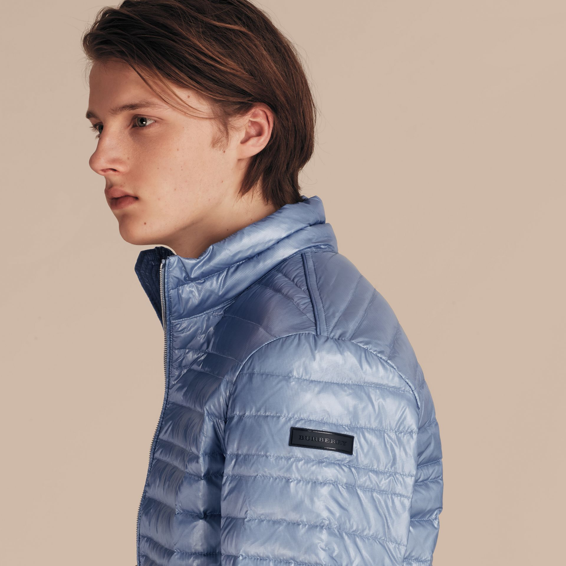 Pale blue Lightweight Down-filled Jacket Pale Blue - gallery image 5