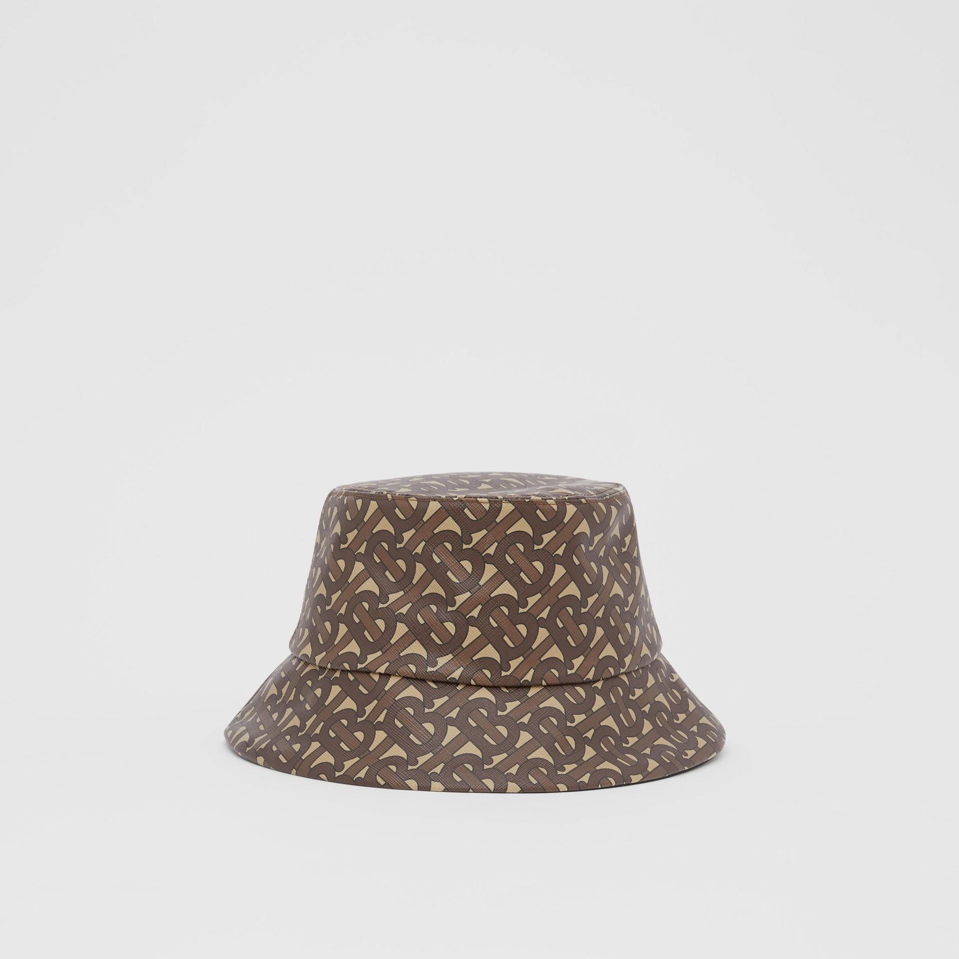 Monogram Print Bucket Hat in Bridle Brown | Burberry Canada - gallery image 6