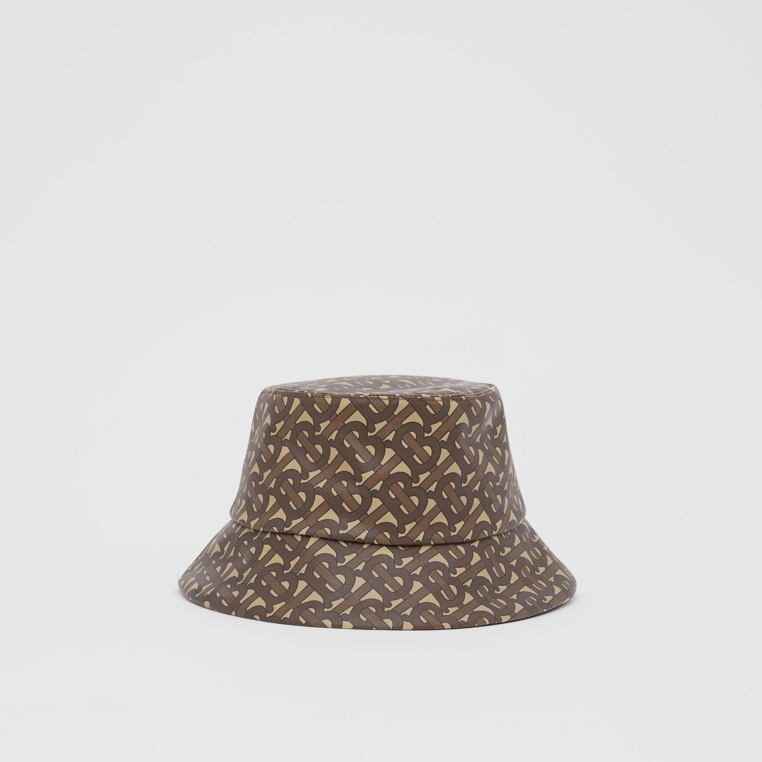 Monogram Print Bucket Hat in Bridle Brown | Burberry - 1